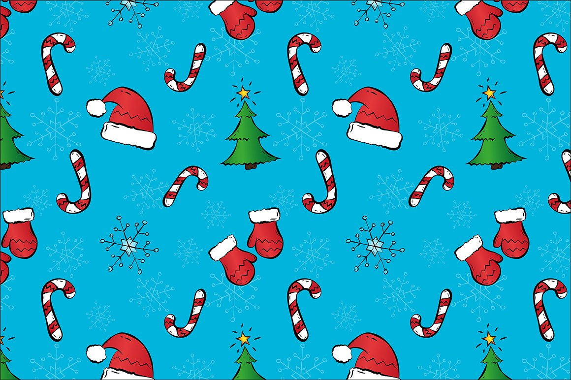 Christmas pattern. Seamless. ~ Graphic Patterns ~ Creative ...