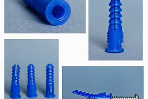 Ribbed plastic anchor