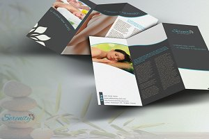 Serenity Spa - Trifold Brochure
