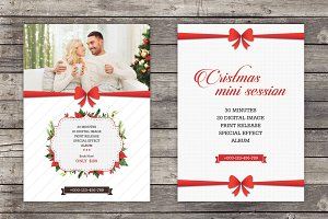 Christmas Mini Session Template for