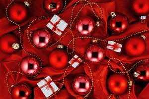 Luxury red Christmas background