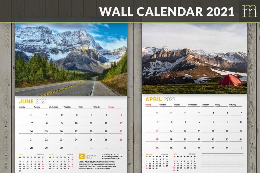 Wall Calendar 2021 (WC027-21)