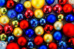 Colored Christmas tree balls