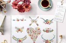 Floral Wedding Vector Graphics