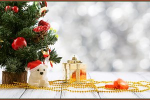 Luxury Christmas greeting card (red)