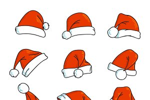 Vector Santa's hat icons