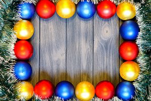 Christmas decorations & color balls