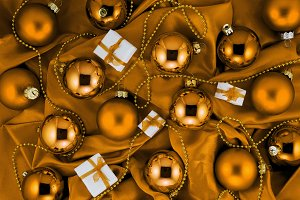 Luxury bronze Christmas background
