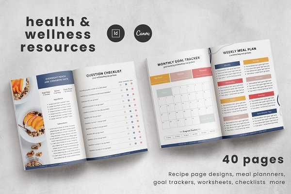 Health + Wellness Resource Templates