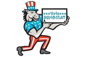 Vote Democrat Donkey Mascot Cartoon