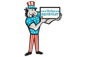 Vote Democrat Donkey Mascot Standing