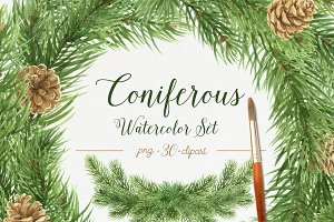 Coniferous Watercolor Set