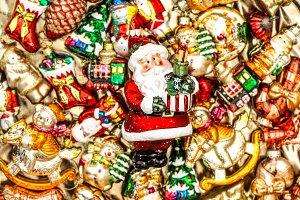 Santa Claus. Christmas toys