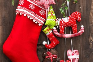 Christmas decoration stocking