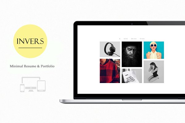 Bootstrap Themes - Invers - Personal Portfolio/Resume