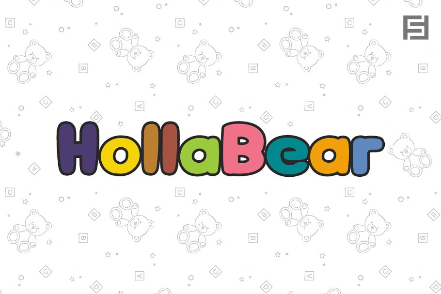 HollaBear - Cute & Playful Kids Font