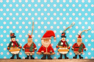 Christmas decoration wooden toys
