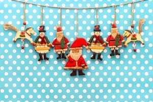 Christmas decoration antique toys