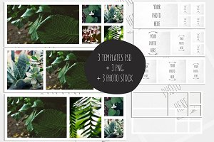 Collage Template 851x315