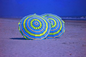 Beach Umbrellas on the sand