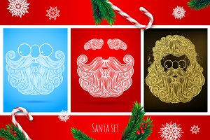 Set of Santa's beard