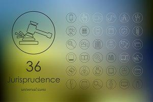 36 jurisprudence icons