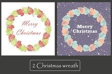 2 Cards. Merry Christmas