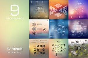 9 3d printer infographics