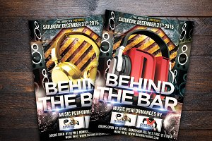 Behind The Bar Party Flyer