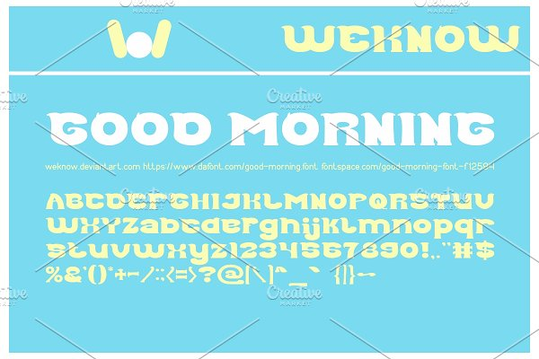 Good Morning Font