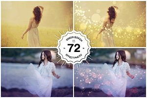 72 Bokeh Photoshop Overlays
