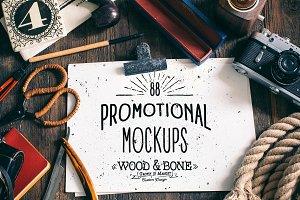 """Wood&Bone"" - Promotional Mockups"