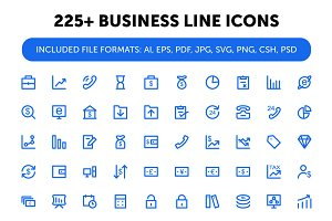 225+ Business Line Icons