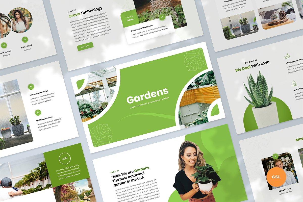 Gardening Google Slides Template