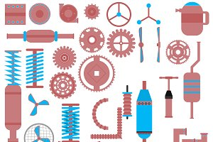 Set of parts of machinery.