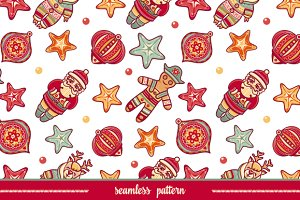 Seamless pattern. Christmas style.