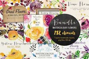 Bundle Watercolour Flowers