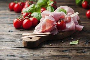 Italian traditional prosciutto