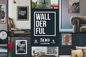 """Wallderful"" Frames Mockups"