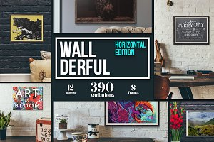 """Wallderful"" - Horizontal Mockups"