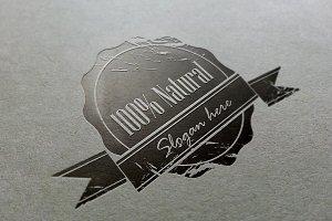 100% Natural Vintage Logo