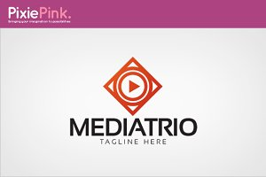 Media Trio Logo Template