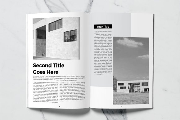 Architect Magazine Template in Magazine Templates - product preview 3