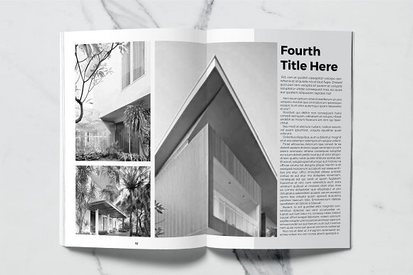 Architect Magazine Template in Magazine Templates - product preview 7