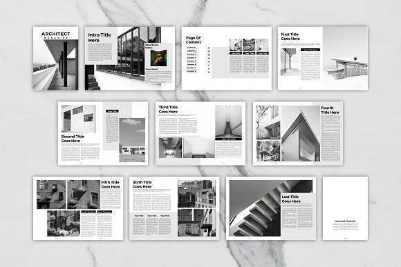 Architect Magazine Template in Magazine Templates - product preview 10