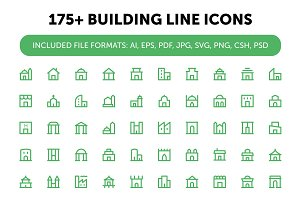 175+ Building Line Icons