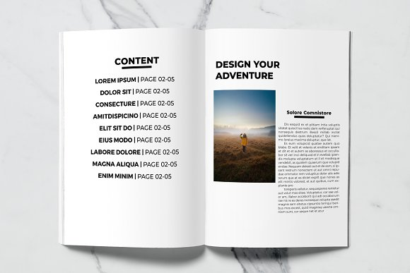 Voyage Magazine Template in Magazine Templates - product preview 1