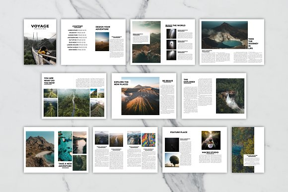 Voyage Magazine Template in Magazine Templates - product preview 9