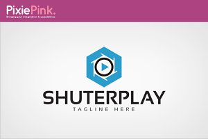 Shuter Play Logo Template