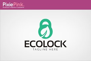Eco Lock Logo Template